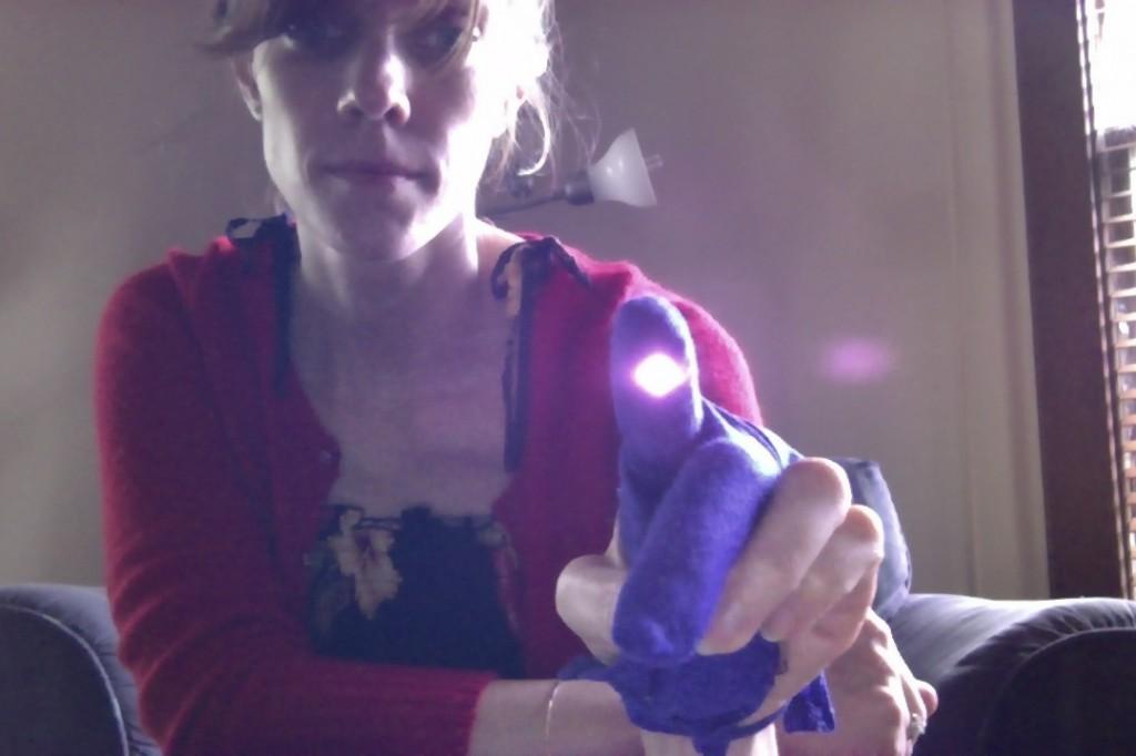 infrared LED glove